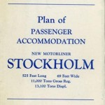 Plan of passenger accommondation Stockholm 1947