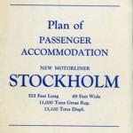 Plan of passenger accommondation Stockholm 1947
