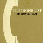Telephone list Kungsholm1962