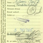 Distribution Card 1955