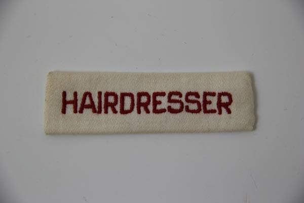 Uniform tag Hairdresser