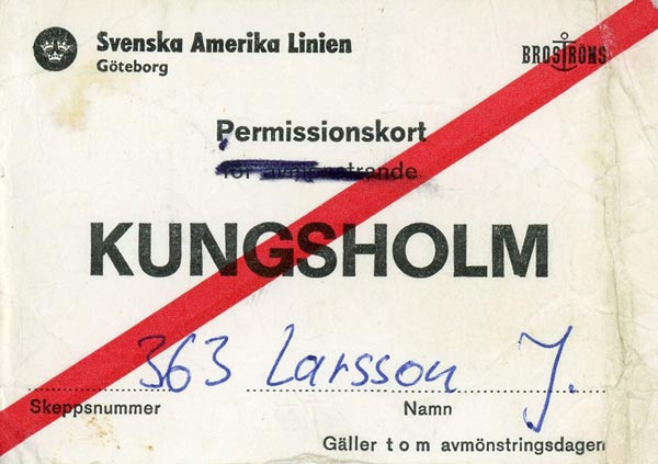 Permision card