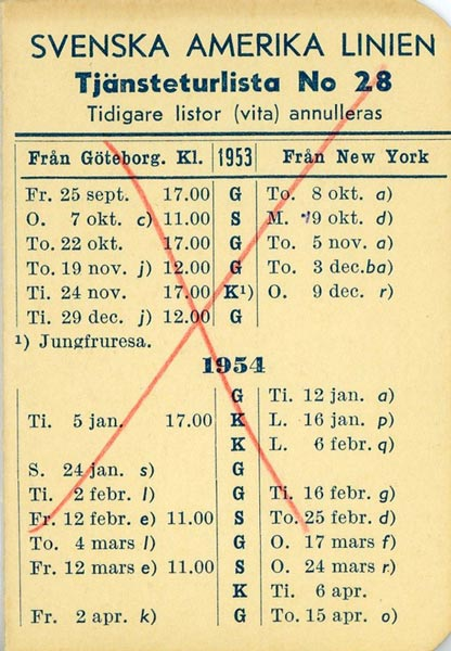 Timetable no28 1953