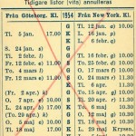 Timetable no32 1954