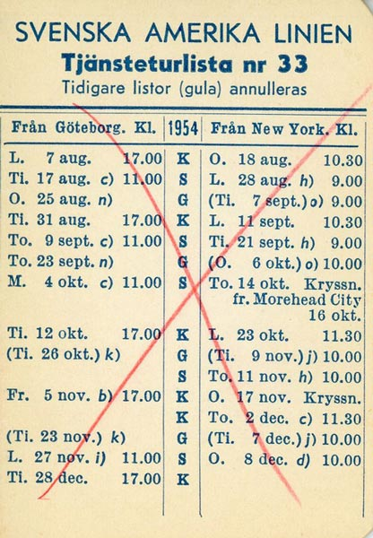 Timetable no33 1952