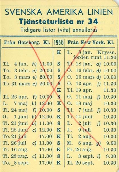 Timetable no34 1955
