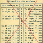 Timetable no43 1957