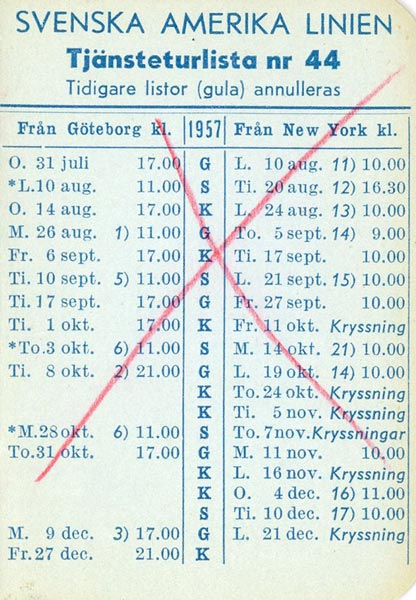 Timetable no44 1957