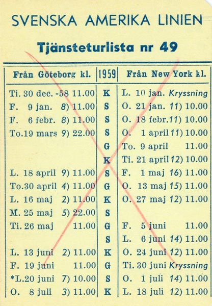 Timetable no49 1959