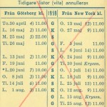 Timetable no51 1959