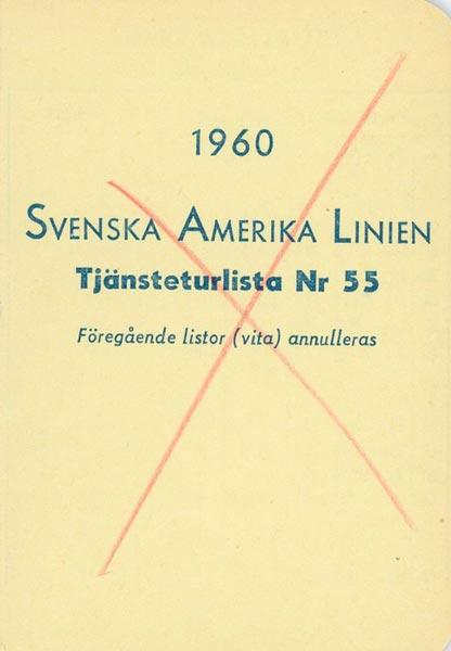 Timetable no55 1960