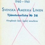 Timetable no56 1960