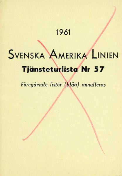Timetable no57 1961