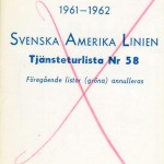 Timetable no58 1961