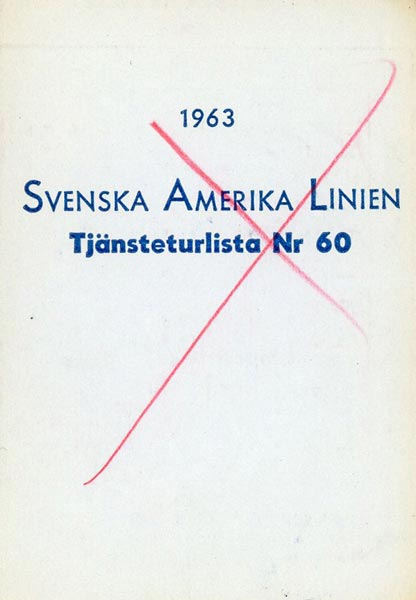 Timetable no60 1963