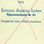 Timetable no61 1963