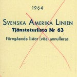 Timetable no63 1964