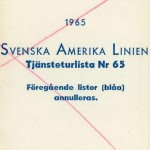 Timetable no65 1965