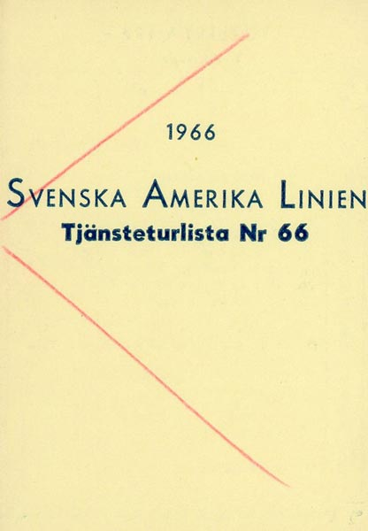 Timetable no66 1966