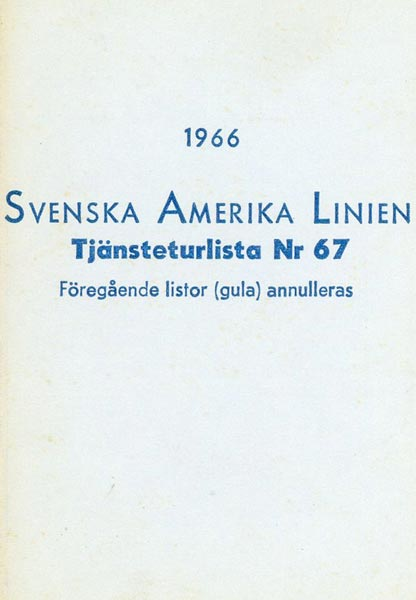 Timetable no67 1966