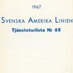 Timetable no68 1967