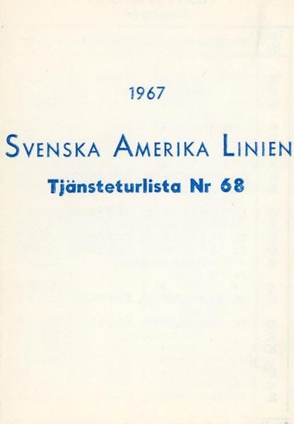 Timetable no68 1967