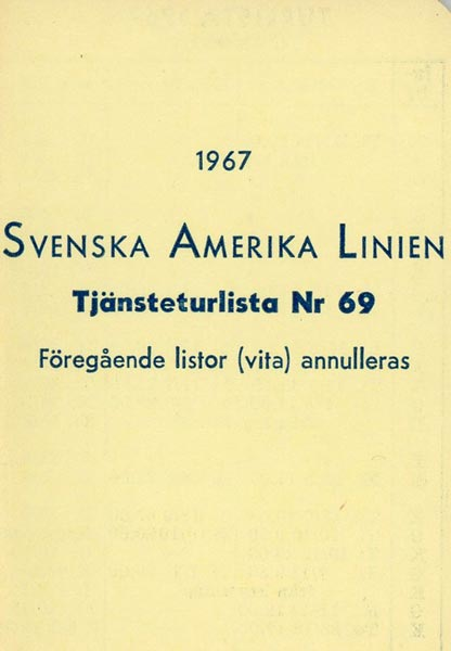 Timetable no69 1967