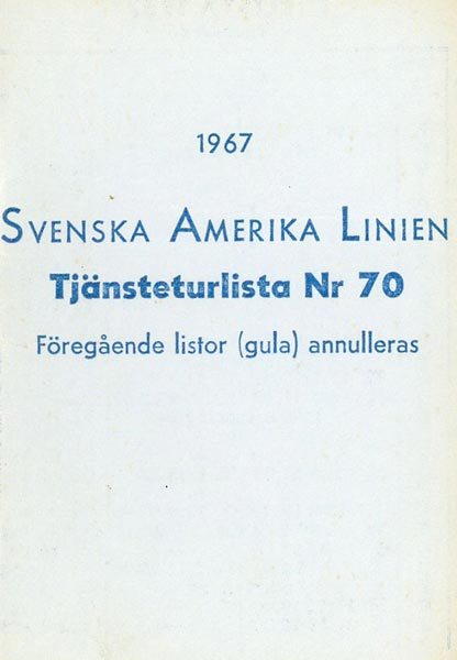 Timetable no70 1967