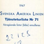 Timetable no71 1967