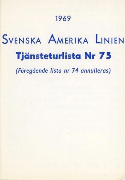 Timetable no75 1969