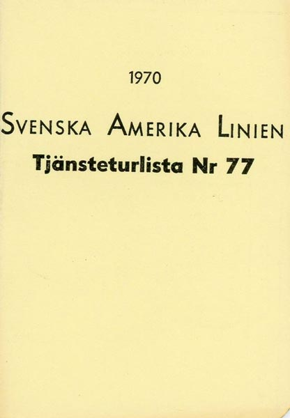 Timetable no77 1970