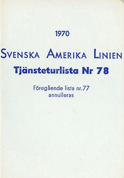 Timetable no78 1970
