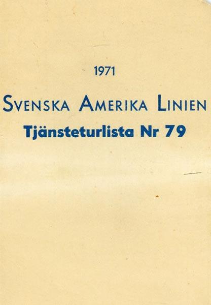 Timetable no79 1971
