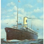 Framed print SS Stockholm 1915