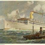 Framed print TS Drottningholm 1920