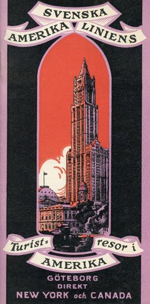 Turistresor till Amerika 1925