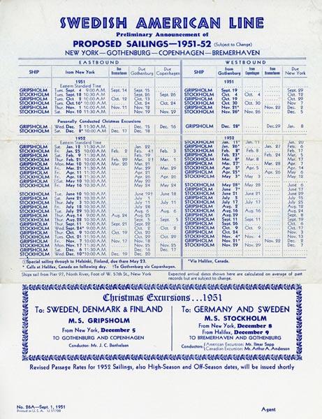 Calendar 1951-1952
