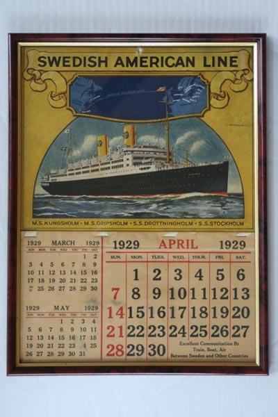 Wall calendar 1929