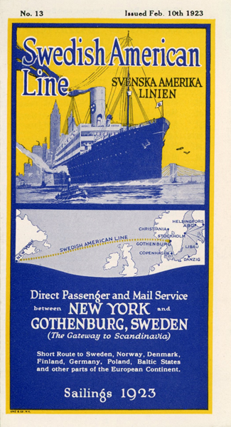 Brochure Sailings 1923