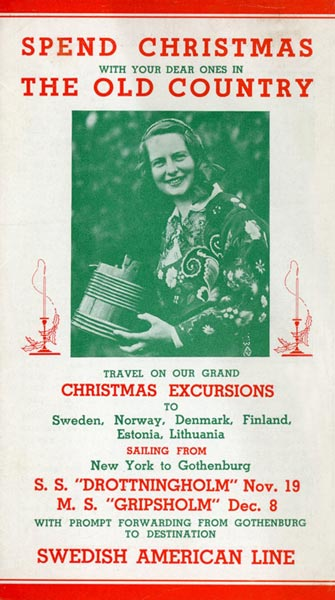 Brochure Christmas excursions 1936