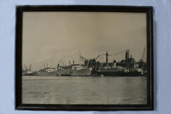 Poster Göteborg's harbour 1938-1939