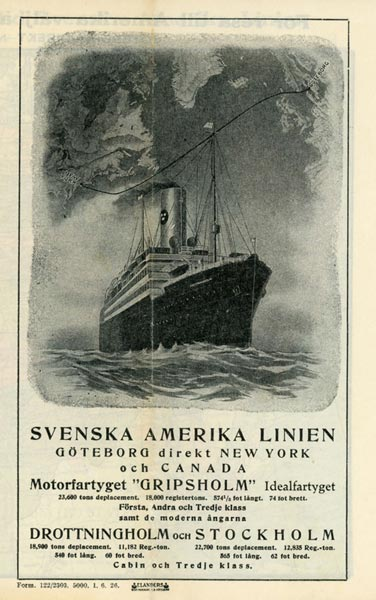Brochure with map 1926