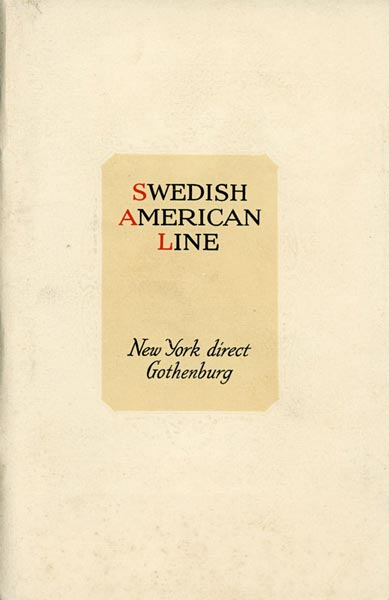 Brochure New York direct Gothenburg 1924