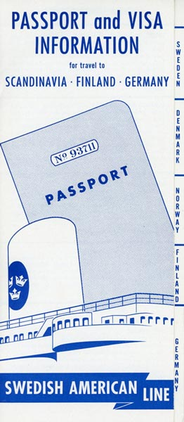 Brochure Passport and visa information (no date)