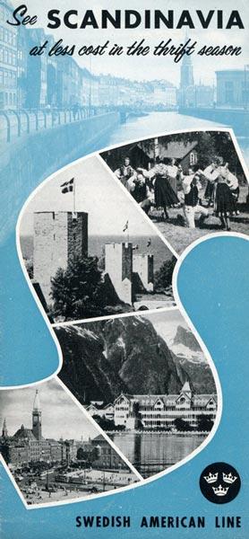 Brochure See Scandinavia 1954