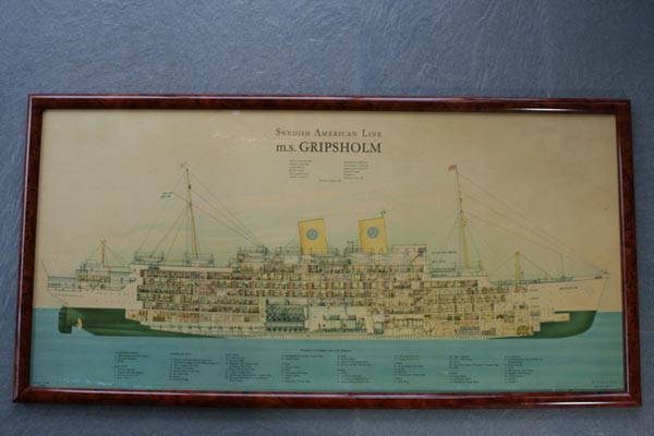 Poster Gripsholm in section 1925