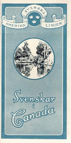 Brochure Svenskar i Canada 1924