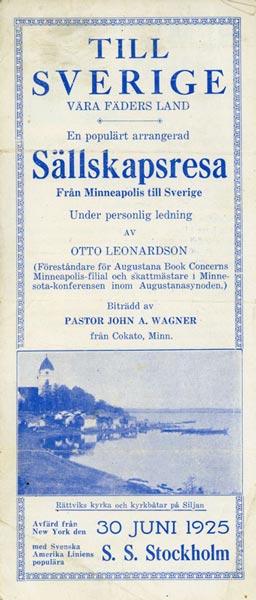 Brochure Till Sverige 1925