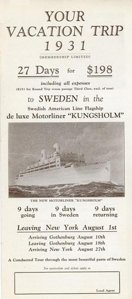 Brochure Your vacation trip 1931