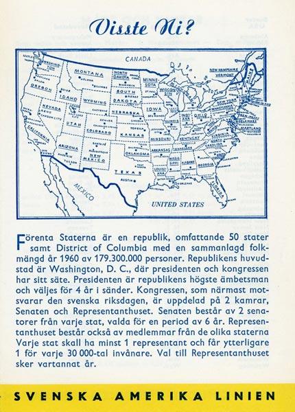 Information page Visste Ni 1962